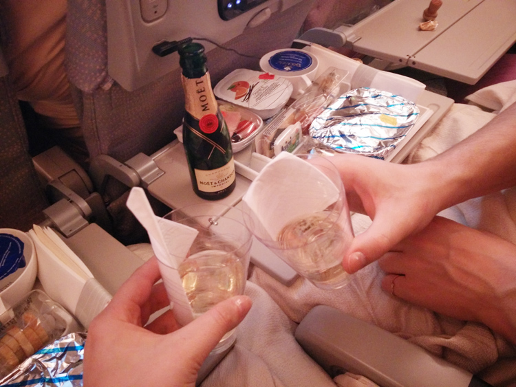 emirates fly company champagne economy
