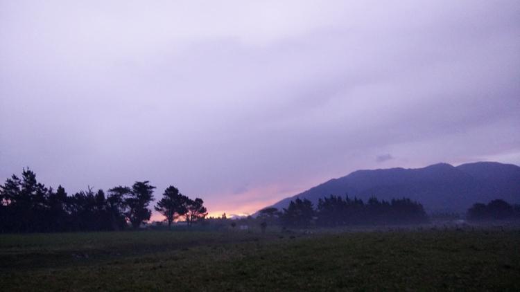 new zealand travel nouvelle zelande middle earth terre du milieu kaikoura campsite sunset