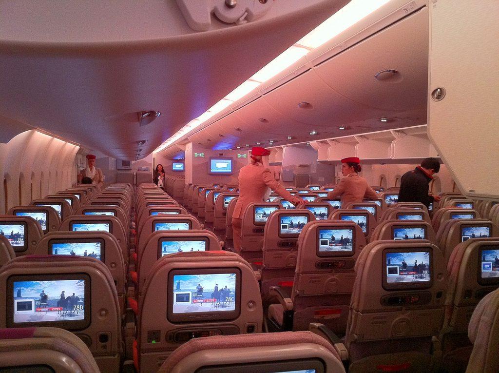 emirates conmfort company inside economic classe eco