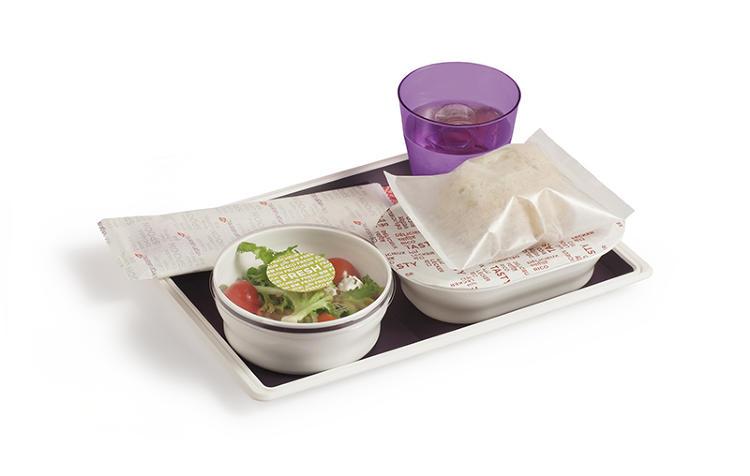 plateau repas sain avion leger voyage