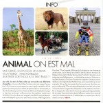 article elle magazine cecil animal dorothée werner