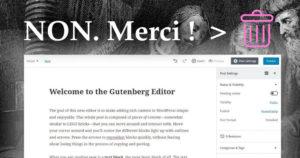 comment desinstaller gutenberg et remettre ancien editeur classique