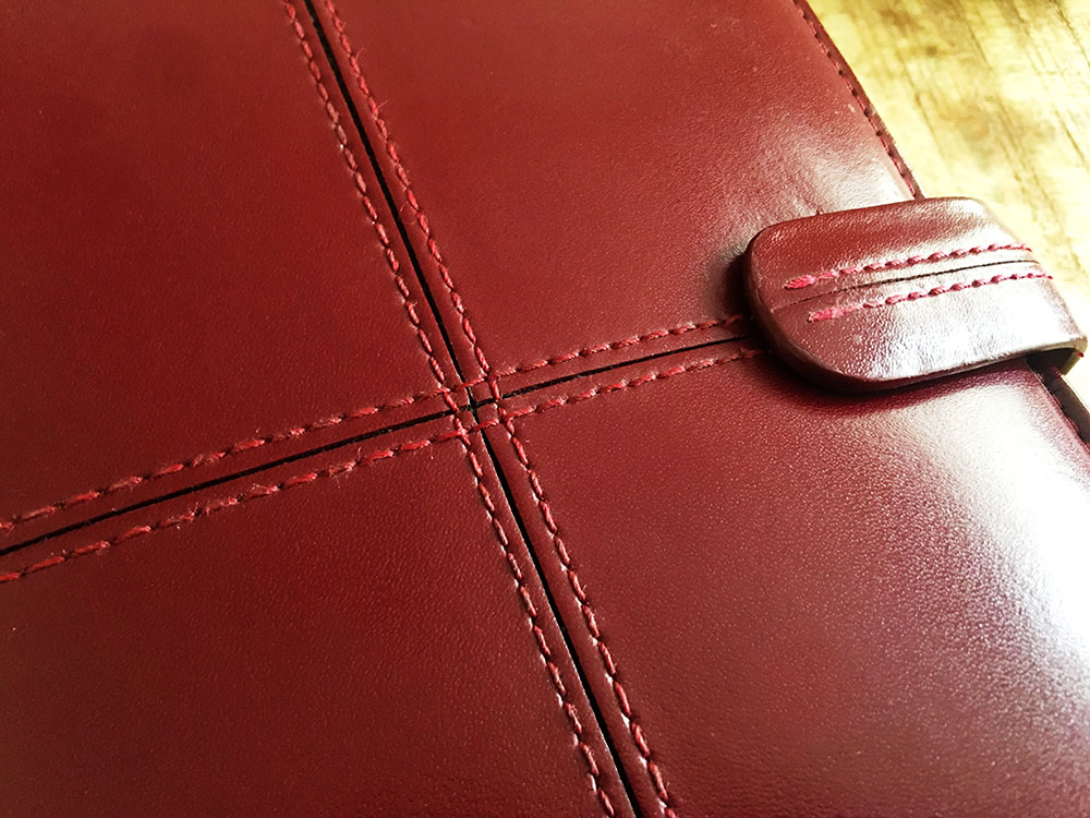 filofax cross red cherry