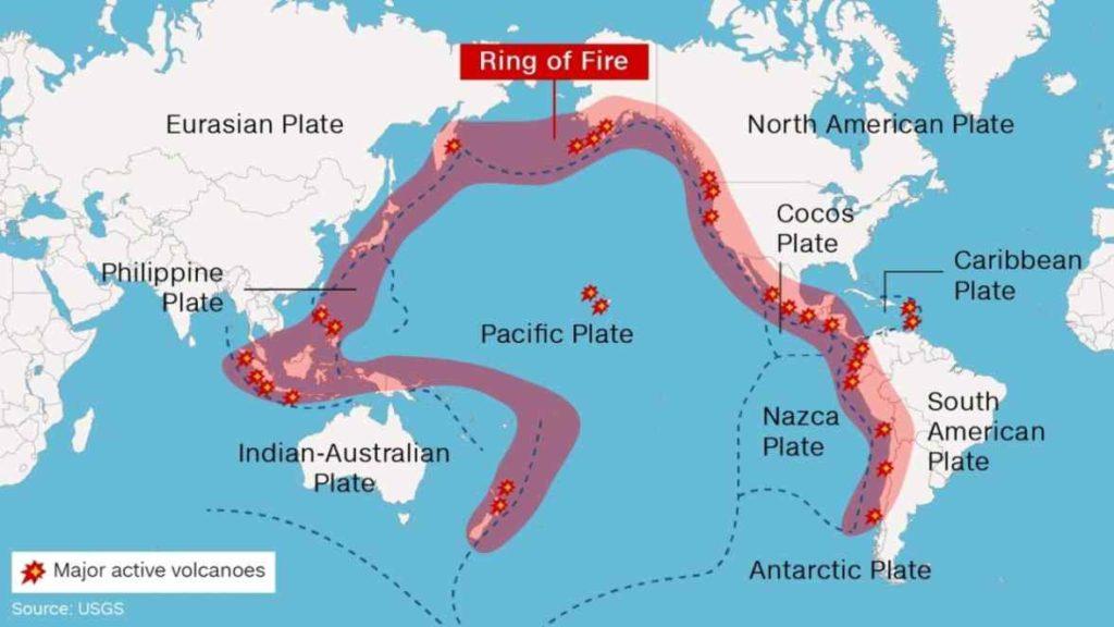 ceinture de feu ring of fire nouvelle zelande seismes tremblements de terre