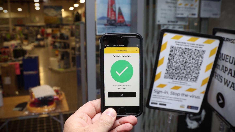 NZ Covid Tracer app et son système de QR code